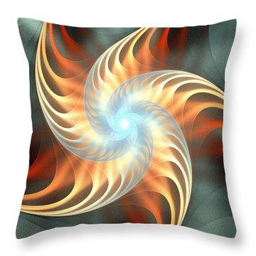Throw Pillow featuring the digital art Windmill Toy by Anastasiya Malakhova