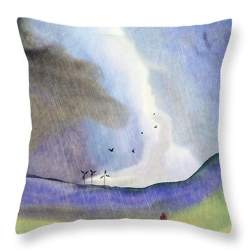 Windmills Of The Mind Throw Pillow
