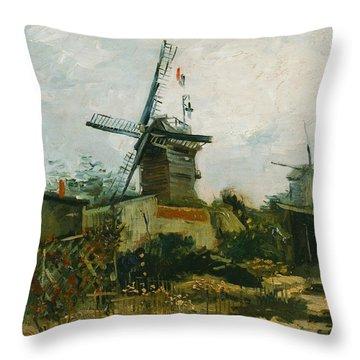 Windmills On Montmartre Throw Pillow