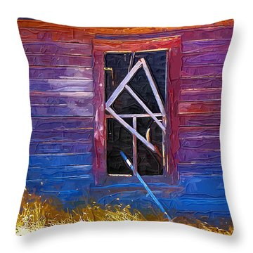 Throw Pillow featuring the photograph Window-1 by Susan Kinney