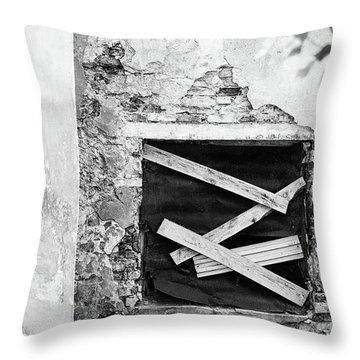 Window #2895 Throw Pillow