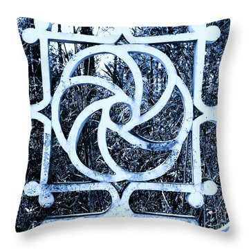 Window #4 Myknonos Blue Angeloffj Throw Pillow