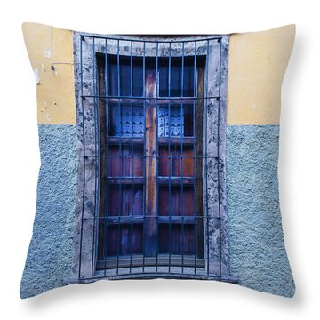Window And Textured Wall Throw Pillow