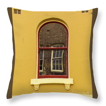 Throw Pillow featuring the photograph Window And Window 2 by Perry Webster