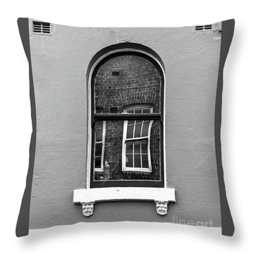 Throw Pillow featuring the photograph Window And Window by Perry Webster