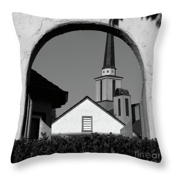 Window Arch Throw Pillow by CML Brown