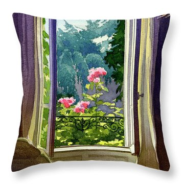 Window At Clermont Throw Pillow