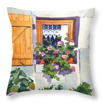 Window At St Saturnin Throw Pillow