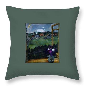 Window At Vitebsk Throw Pillow