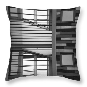 Vertical Horizontal Abstract Throw Pillow by Wendy Wilton