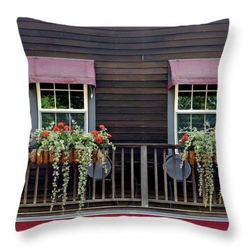 Window Boxes Throw Pillow by Jim Gillen