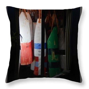 Window Buoys Key West Throw Pillow by Expressionistart studio Priscilla Batzell