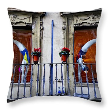 Window Dressing 2 In Florence Italy Throw Pillow