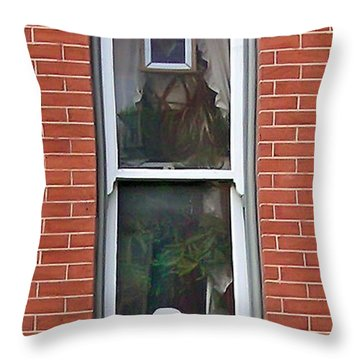 Throw Pillow featuring the photograph Window Dressing by Brian Wallace