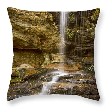 Window Falls In Hanging Rock State Park Throw Pillow by Bob Decker