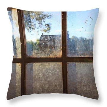 Window Grafton Ghost Town Throw Pillow
