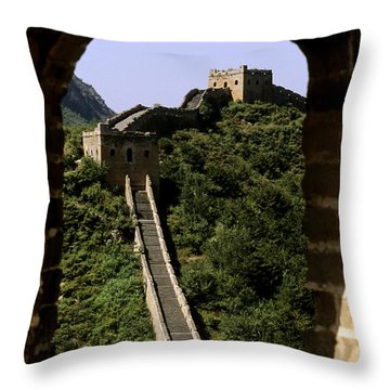 Window Great Wall Throw Pillow by Bill Bachmann - Printscapes