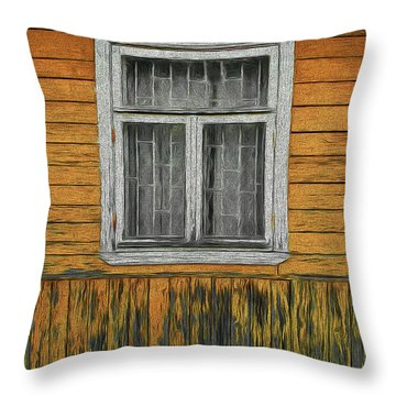 Window In The Old House Throw Pillow