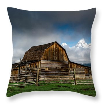 Throw Pillow featuring the photograph Window In The Storm by Scott Read