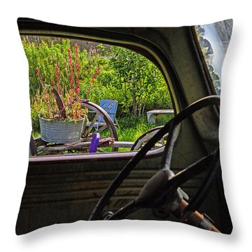 Window In Time Throw Pillow by Alana Thrower