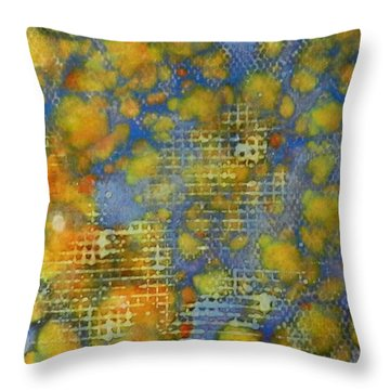 Throw Pillow featuring the painting Window Into Summer Ink #17 by Sarajane Helm