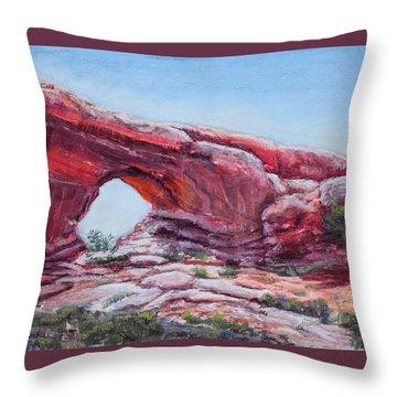 Window Throw Pillow by Mary Benke