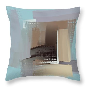 Throw Pillow featuring the mixed media Window Morning View by Eduardo Tavares