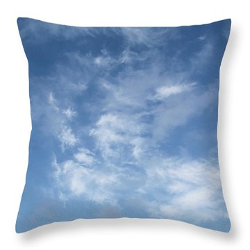 Window On The Sky In Israel During The Winter Throw Pillow by Yoel Koskas