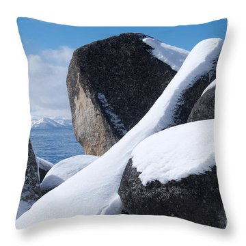 Window On Tahoe Throw Pillow by Vinnie Oakes
