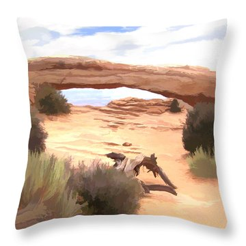 Throw Pillow featuring the digital art Window On The Valley by Gary Baird