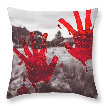 Window Pain Throw Pillow