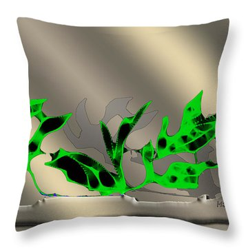Throw Pillow featuring the digital art Window Plant by Asok Mukhopadhyay