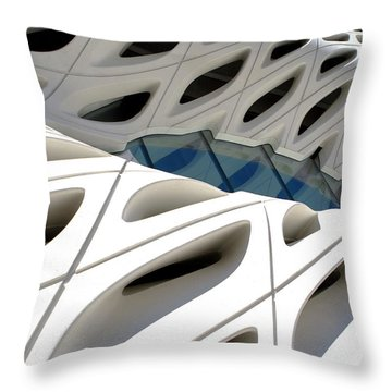 Throw Pillow featuring the photograph Window Pool At The Broad by Lorraine Devon Wilke