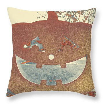 Window Pumpkin #1 Throw Pillow