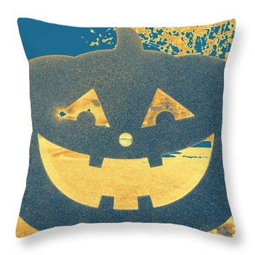 Window Pumpkin #2 Throw Pillow