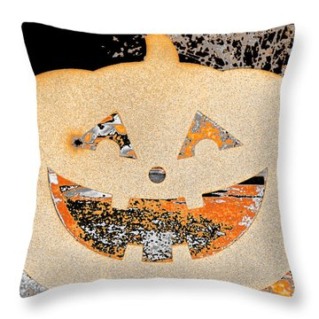 Window Pumpkin #3 Throw Pillow
