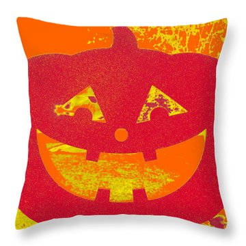 Window Pumpkin #4 Throw Pillow