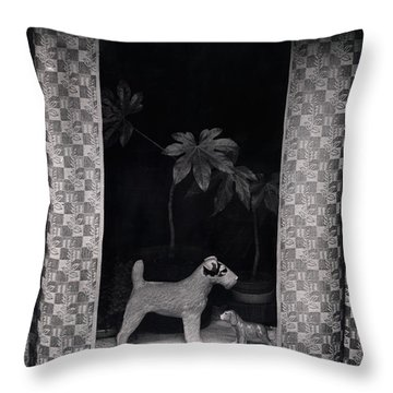 Window Scene Throw Pillow by Charles Stuart