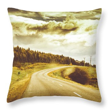 Window To A Rural Road Throw Pillow