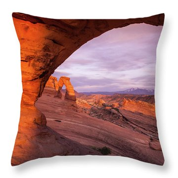 Window To Arch Throw Pillow