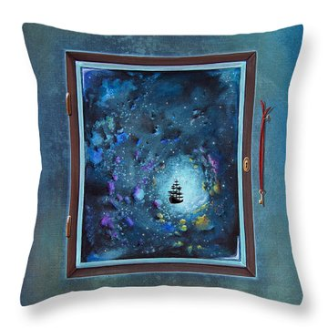 Window To Genesis Throw Pillow