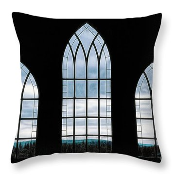 Throw Pillow featuring the photograph Window To God's Country by Brad Allen Fine Art