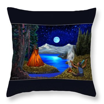 Window To Heaven Throw Pillow by Glenn Holbrook