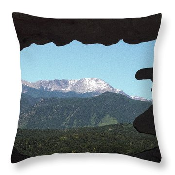Window To Pikes Peak Throw Pillow