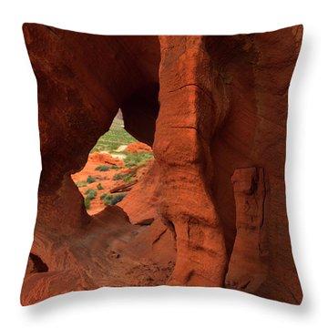 Window To The Desert Throw Pillow