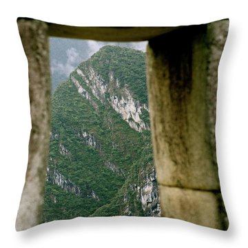 Window To The Gifts Of The Pachamama Throw Pillow