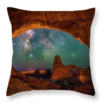 Window To The Heavens Throw Pillow
