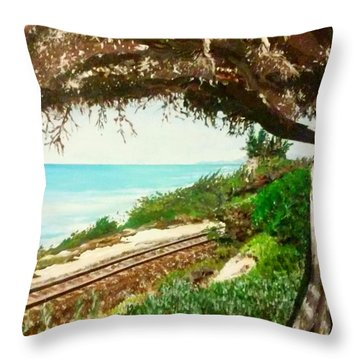 Window To The Pacific Throw Pillow