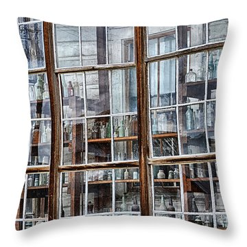 Window To The Past Throw Pillow by AJ Schibig