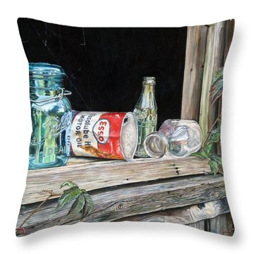 Window To The Past Throw Pillow